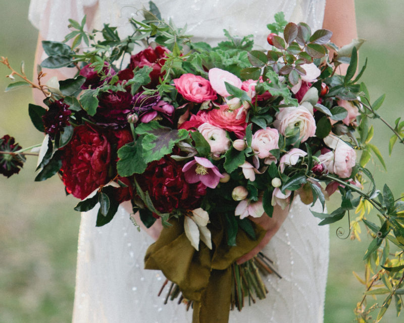 eden garden 30a wedding bouquet in jewel tones