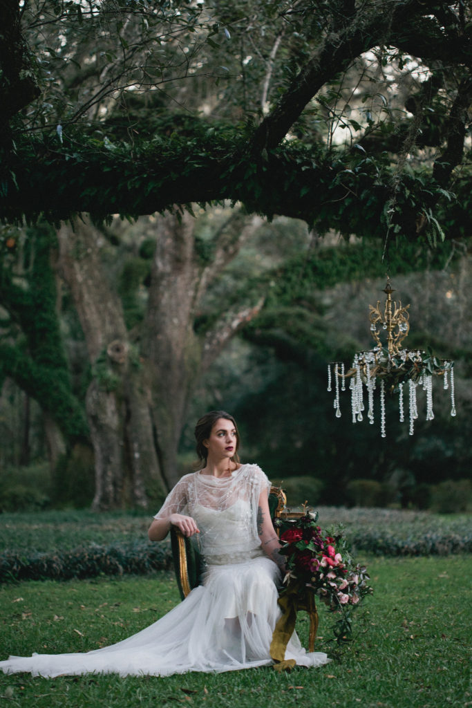 Vintage shoot at eden garden 30a wedding editorial