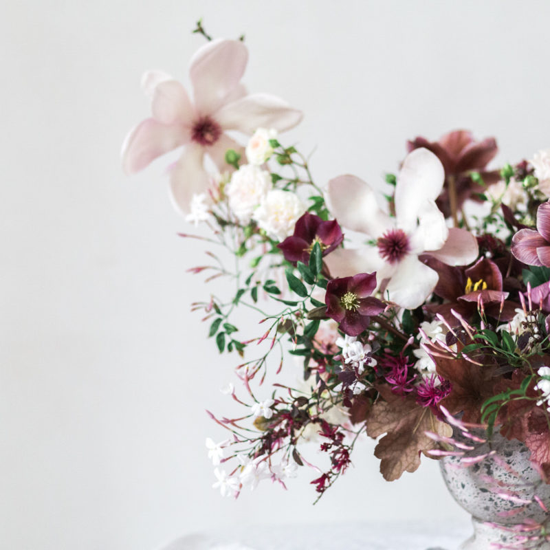 Spring Seaside wedding flowers DIY